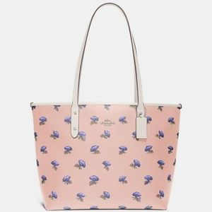 Coach Zip Tote With Floral Print
